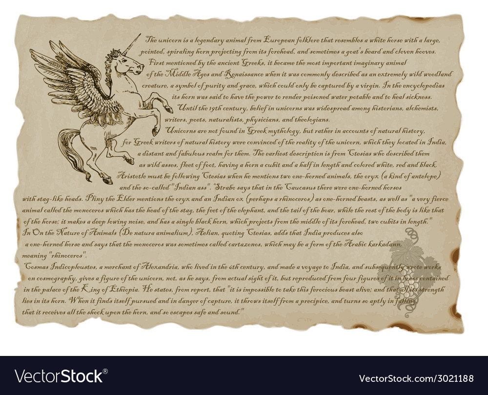 Creature or mystical monster unicorn vector | Price: 1 Credit (USD $1)