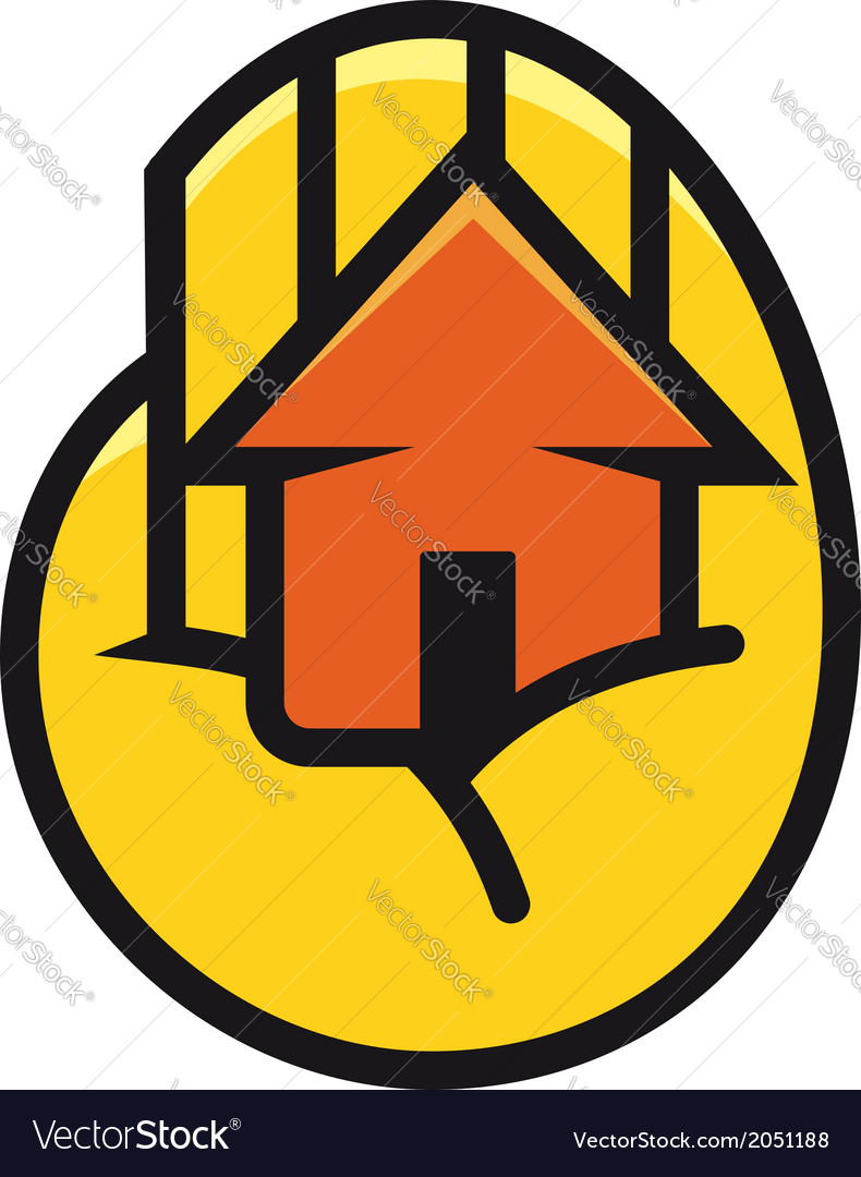 House cupped in the palm of a hand vector | Price: 1 Credit (USD $1)