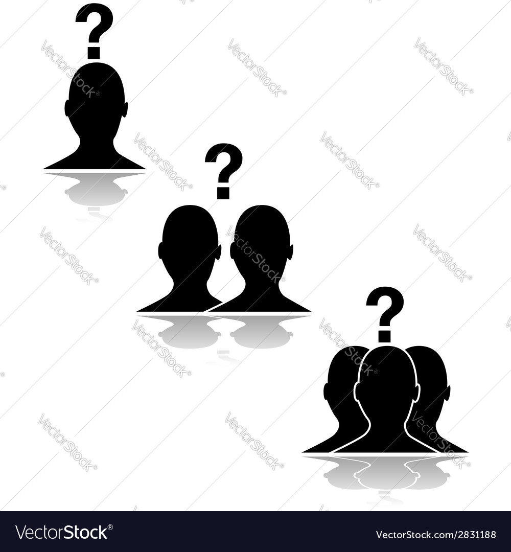 Questioning relationships vector | Price: 1 Credit (USD $1)