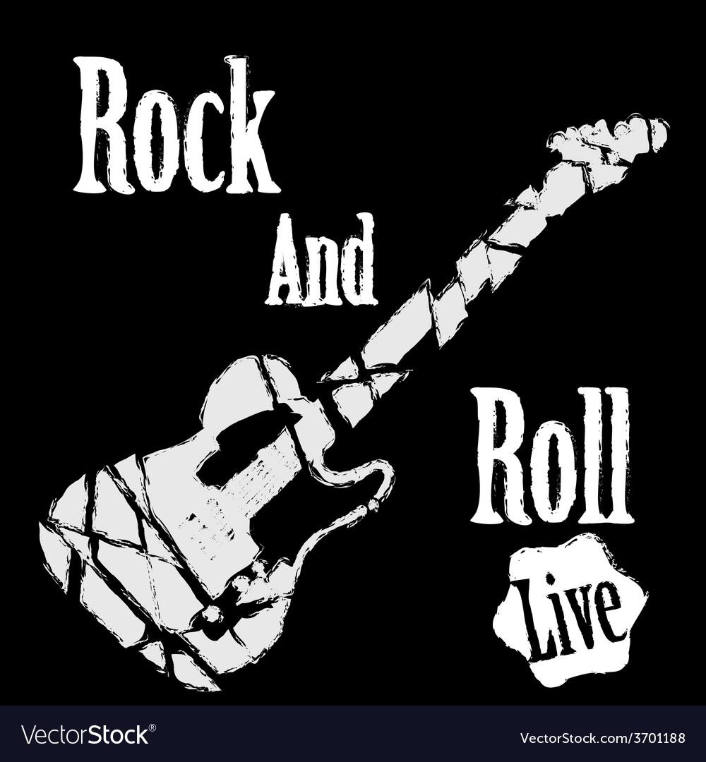 Rock guitar poster vector | Price: 1 Credit (USD $1)