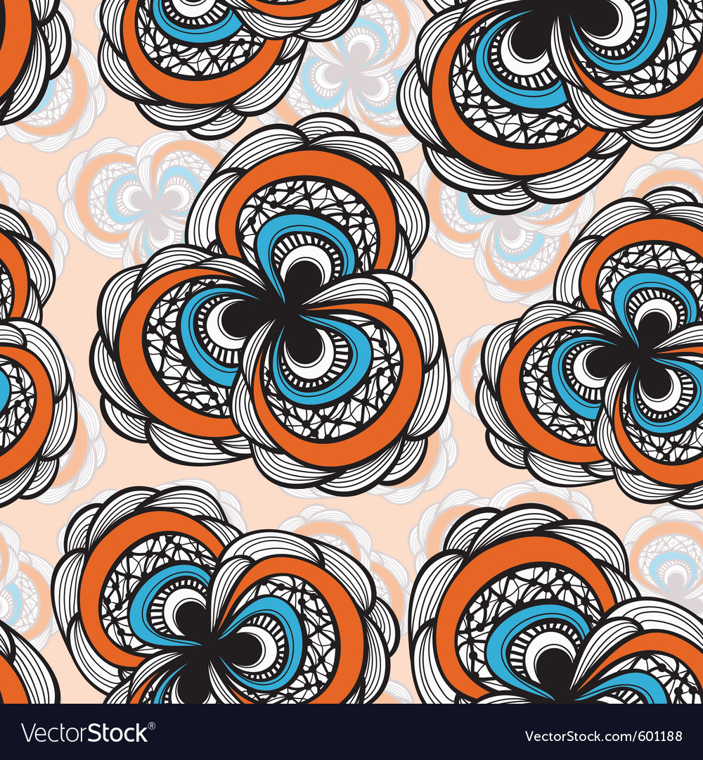 Seamless abstract floral bright pattern 4 clipping vector | Price: 1 Credit (USD $1)