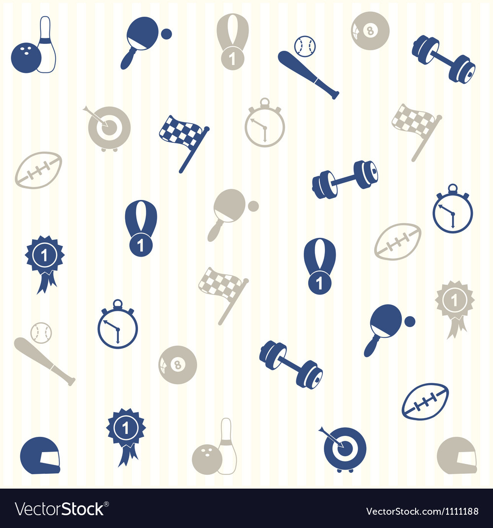 Sport seamless pattern vector | Price: 1 Credit (USD $1)