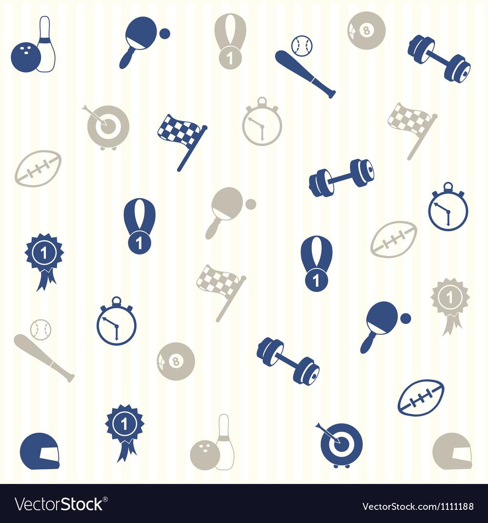Sport seamless pattern vector | Price: 1 Credit (USD $1)