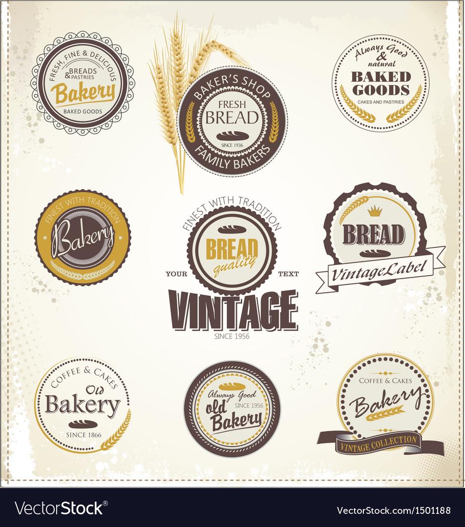 Vintage bakery labels vector | Price: 1 Credit (USD $1)