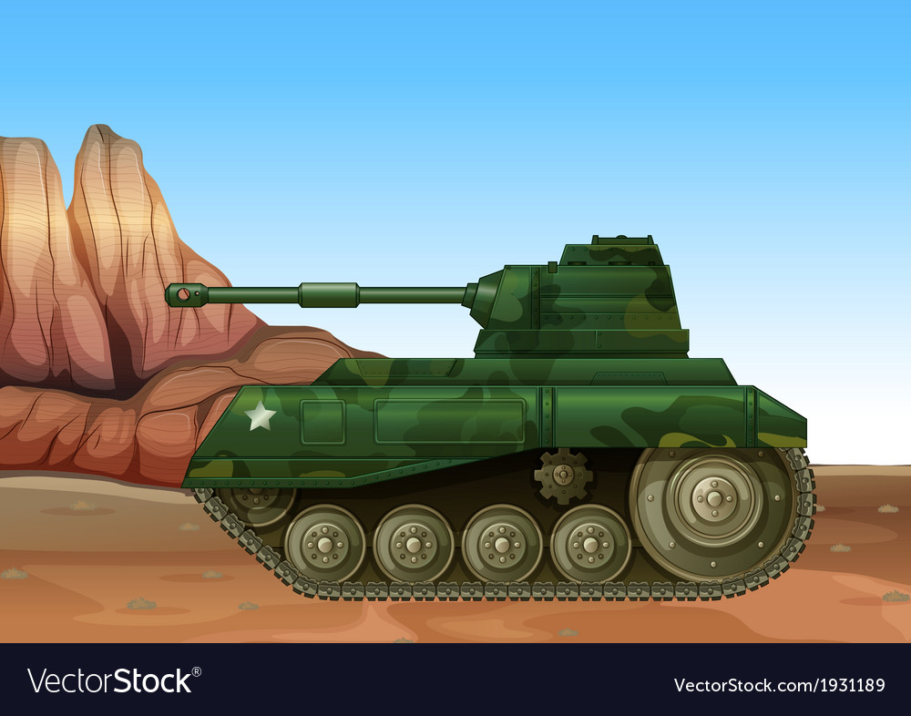 A military fighter tank vector   Price: 1 Credit (USD $1)