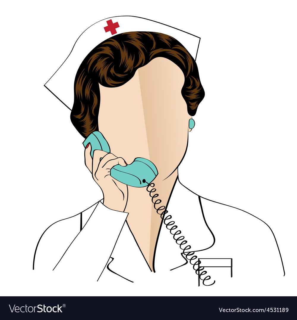 Beautiful friendly and confident nurse talking by vector | Price: 1 Credit (USD $1)