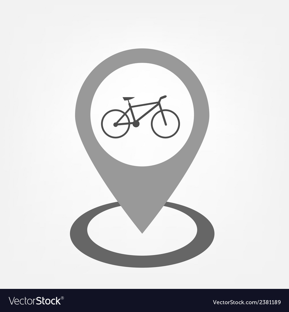 Bicycle sign inside pointer vector | Price: 1 Credit (USD $1)