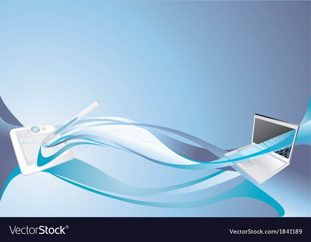 Blue tablet pc background vector | Price: 1 Credit (USD $1)