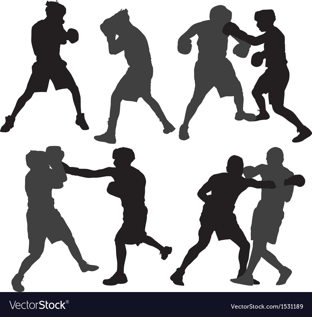 Boxing silhouette vector | Price: 1 Credit (USD $1)