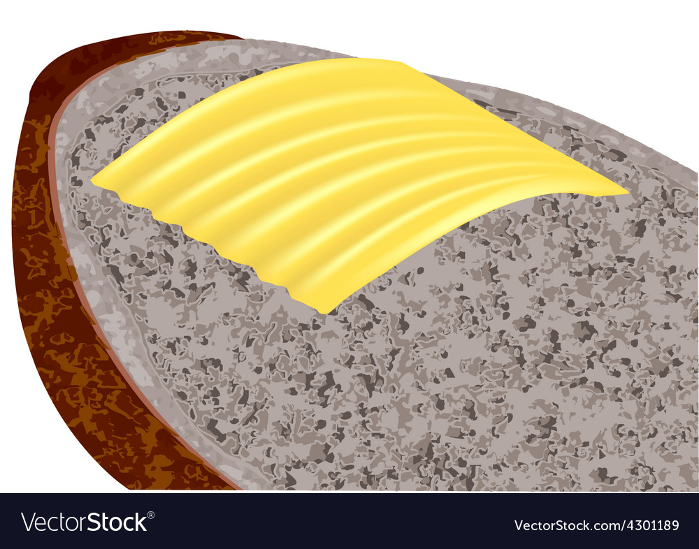 Butter on bread vector | Price: 1 Credit (USD $1)
