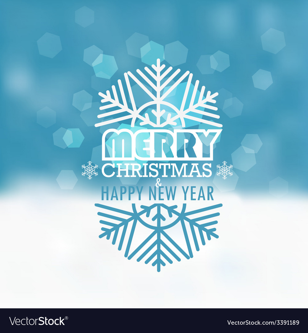 Christmas greeting card snowfall on winter vector | Price: 1 Credit (USD $1)