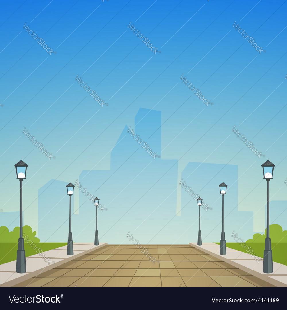 City street vector | Price: 3 Credit (USD $3)