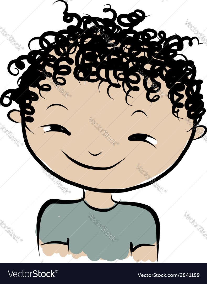 Cute boy smiling sketch for your design vector | Price: 1 Credit (USD $1)