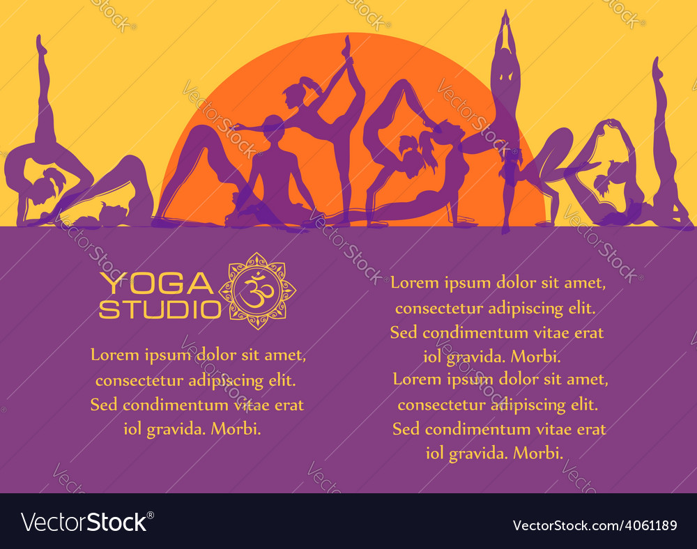 Flat colorful set of yoga poses vector | Price: 1 Credit (USD $1)