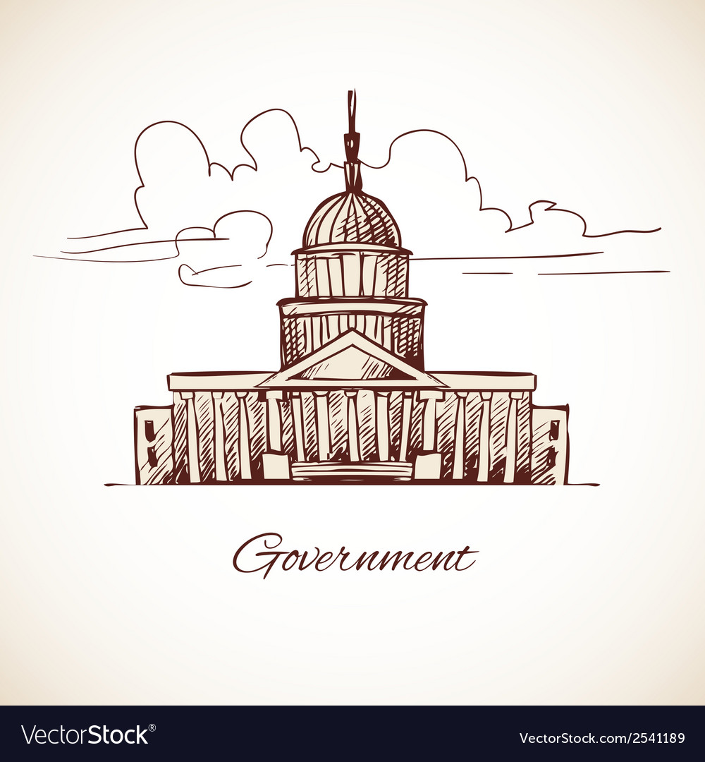 Government building vector | Price: 1 Credit (USD $1)