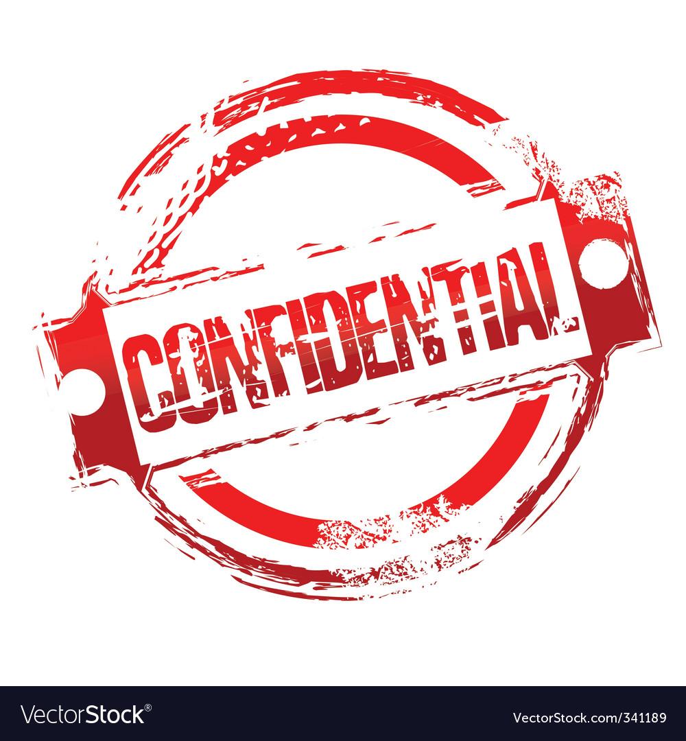 Grunge confidential stamp vector | Price: 1 Credit (USD $1)