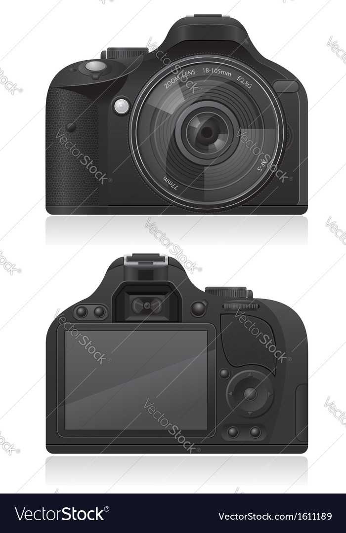 Photo camera 03 vector | Price: 1 Credit (USD $1)