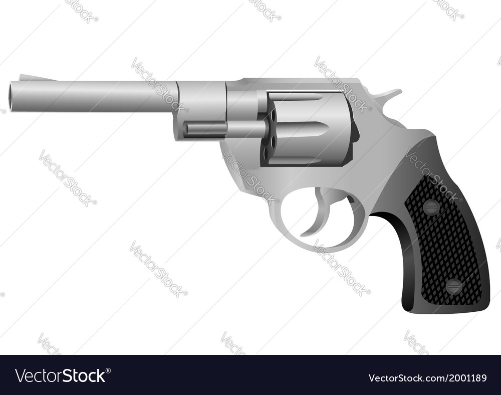 Realistic revolver vector | Price: 1 Credit (USD $1)