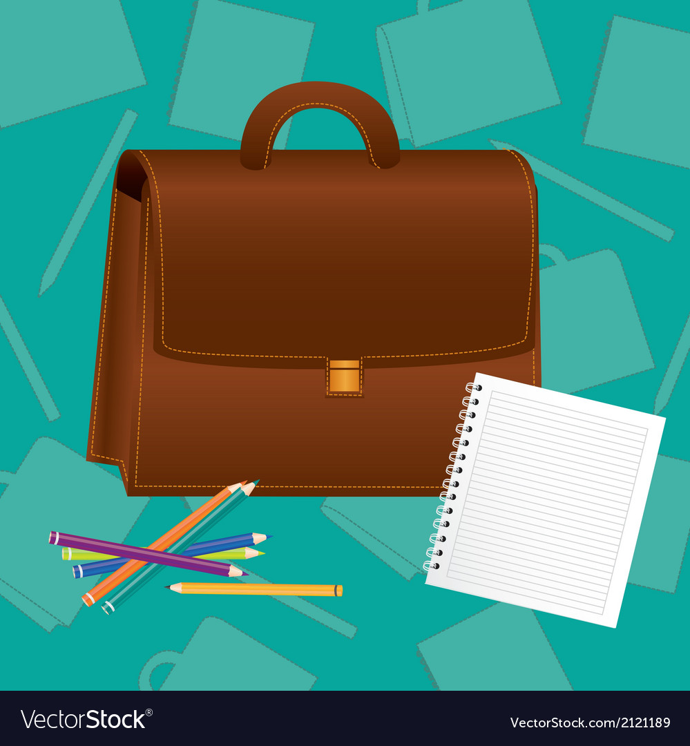 School supplies turquoise background silhouettes vector | Price: 1 Credit (USD $1)