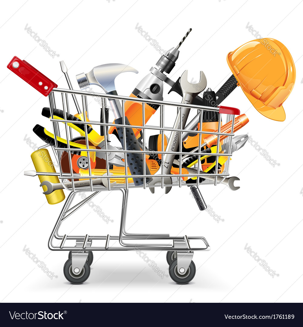 Trolley with tools vector | Price: 1 Credit (USD $1)