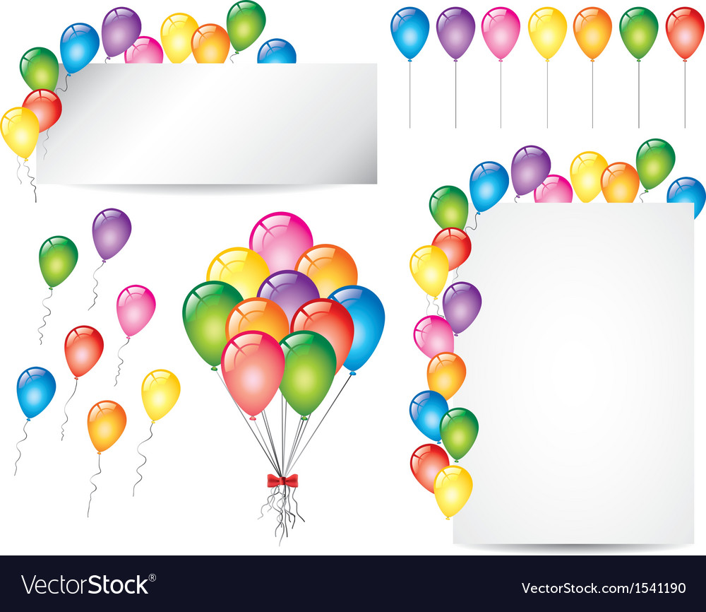 Balloons set vector | Price: 1 Credit (USD $1)