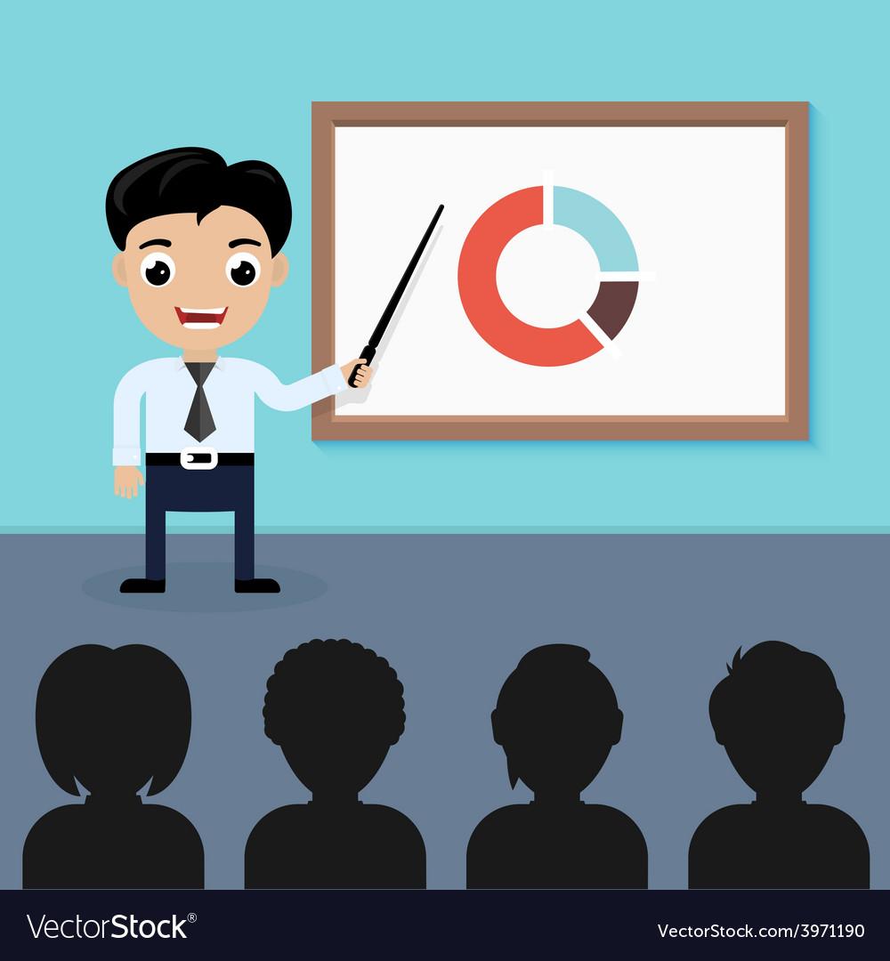 Businessman presentation vector | Price: 1 Credit (USD $1)