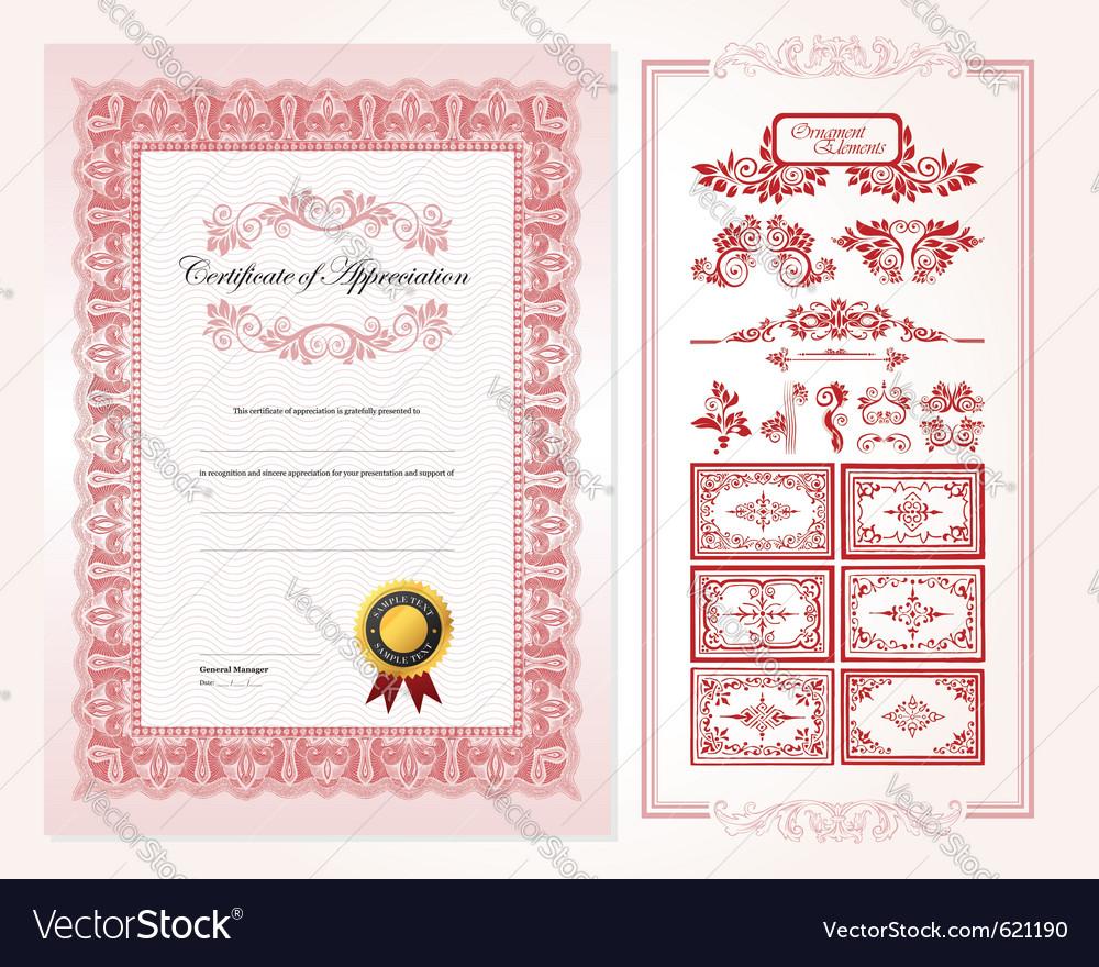 Certificate design template vector | Price: 1 Credit (USD $1)