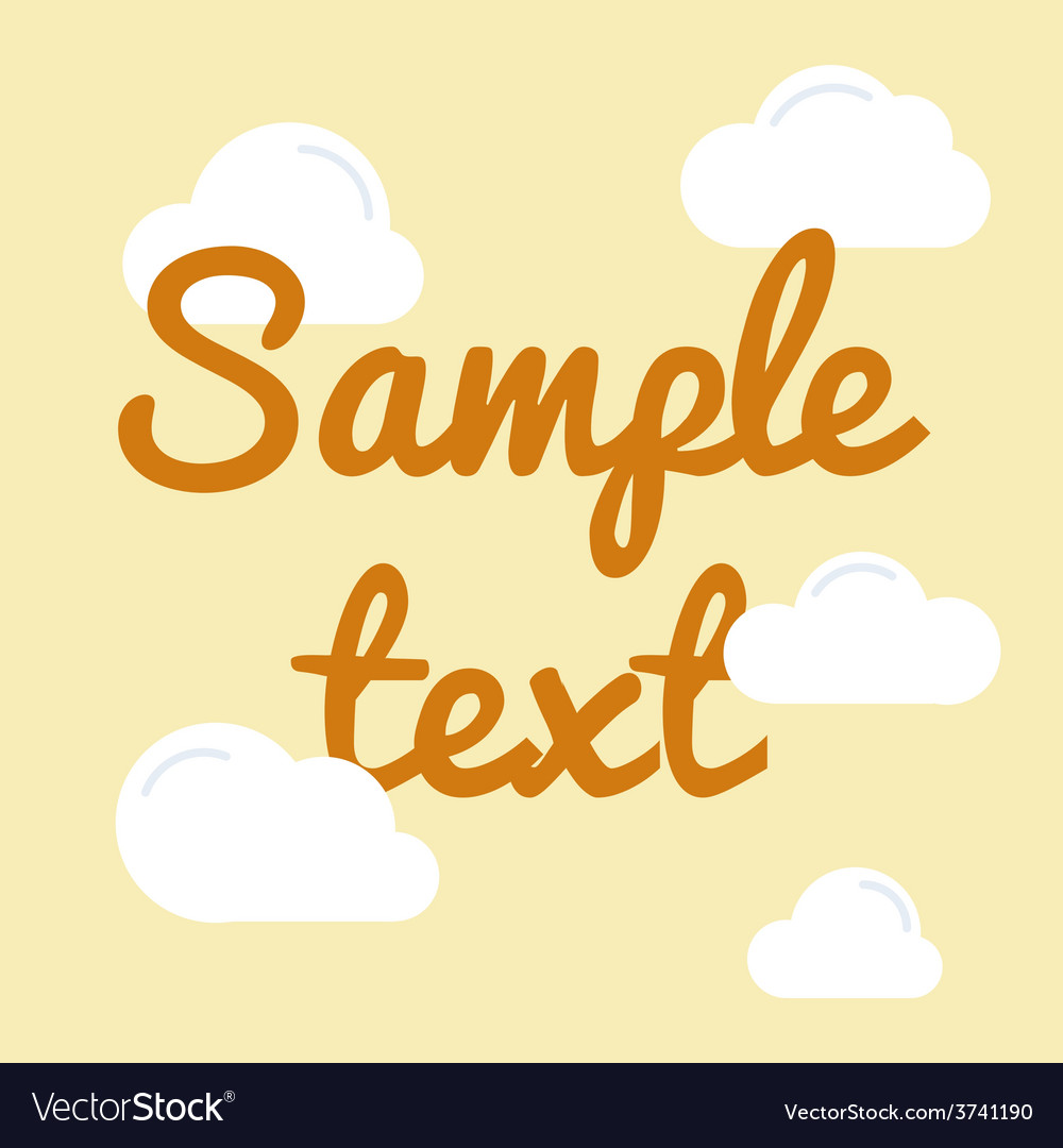 Cloud with text in flat style vector | Price: 1 Credit (USD $1)