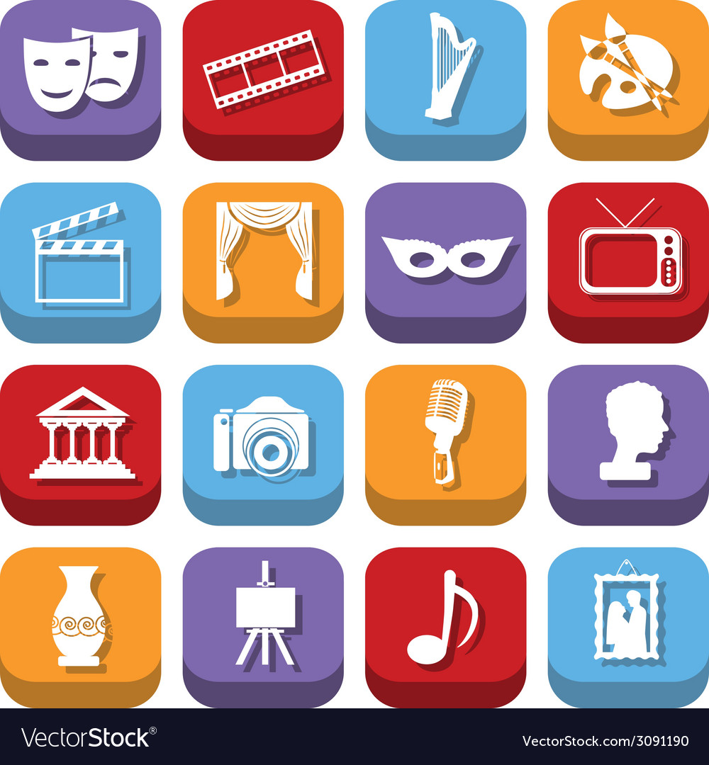 Culture icons vector   Price: 1 Credit (USD $1)