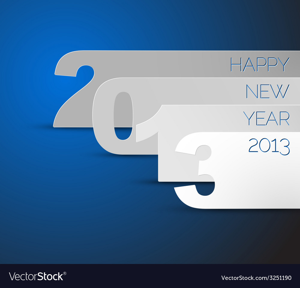 Happy new year 2013 blue card vector | Price: 1 Credit (USD $1)