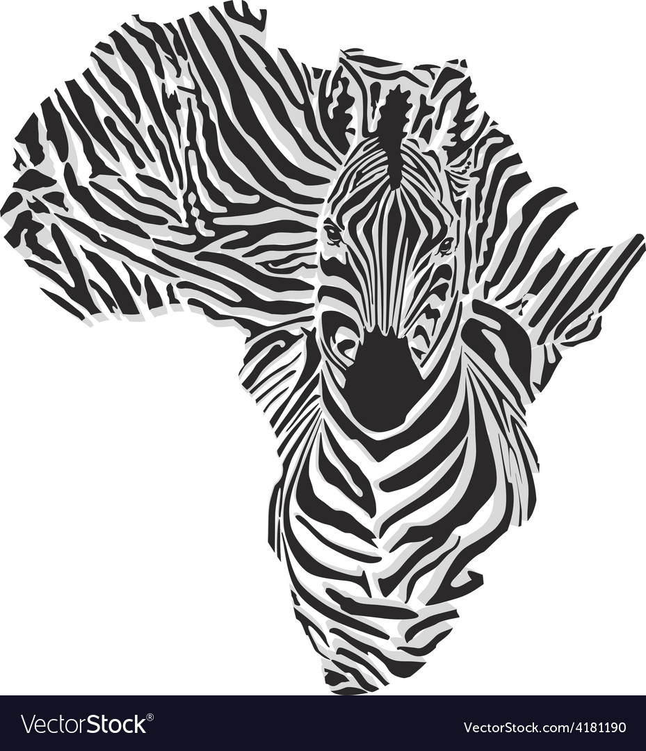Map of africa with the head of giraffe vector | Price: 1 Credit (USD $1)