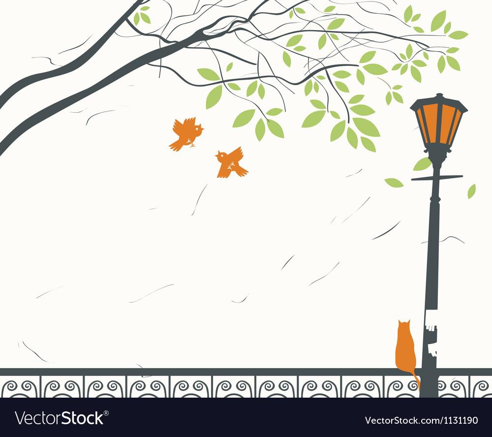 Park landscape vector | Price: 1 Credit (USD $1)