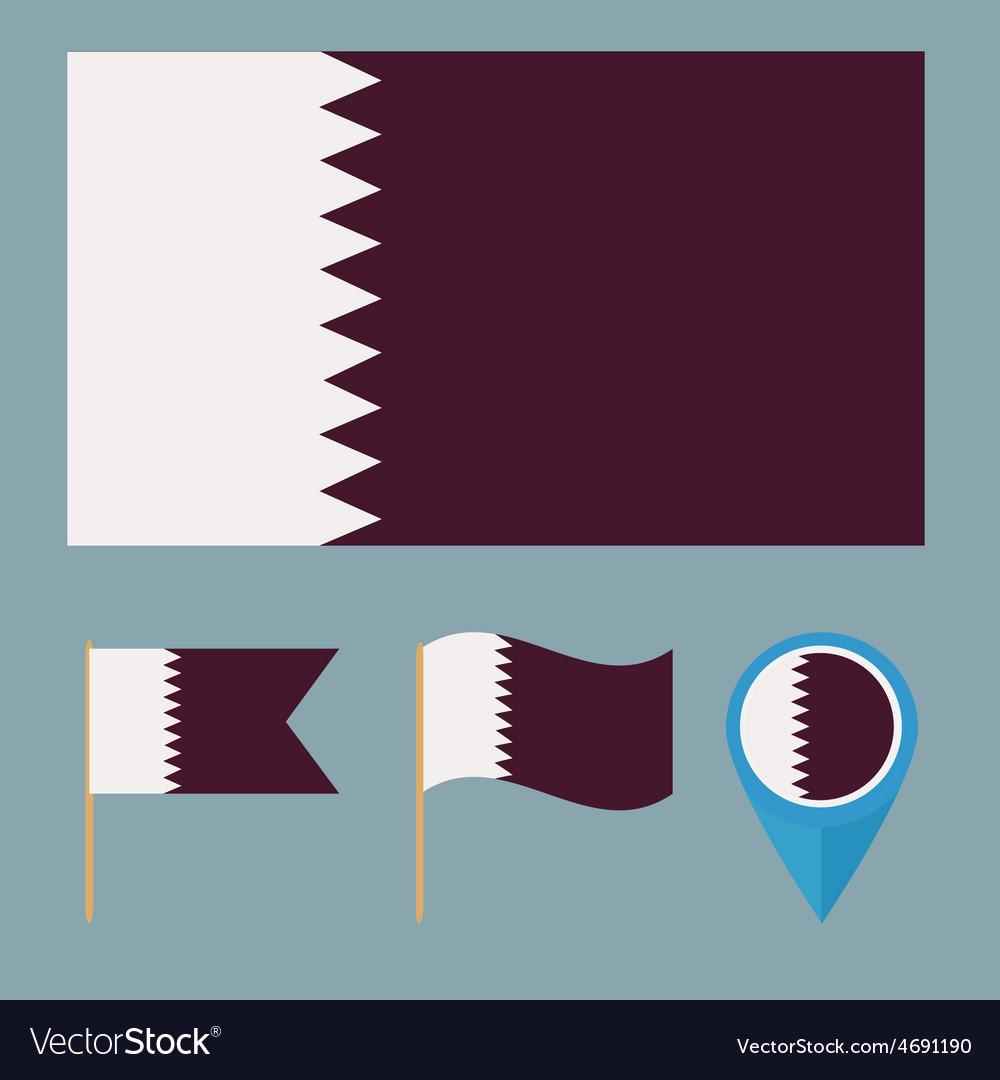 Qatarcountry flag vector   Price: 1 Credit (USD $1)