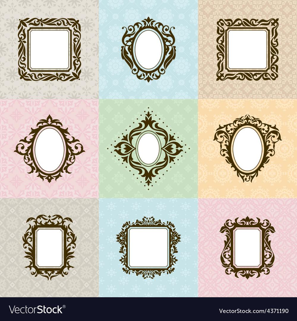 Set of vintage frames vector   Price: 1 Credit (USD $1)