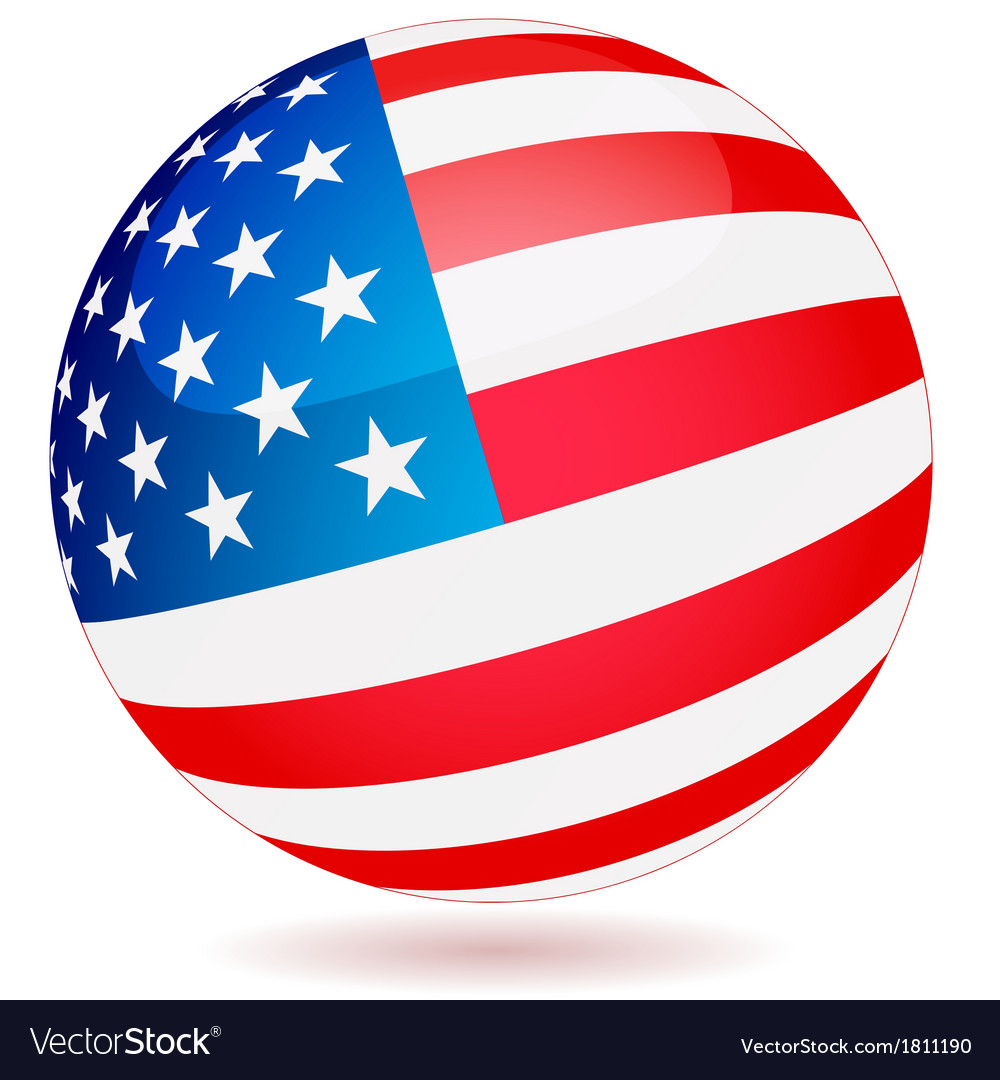 Spherical flag of usa vector | Price: 1 Credit (USD $1)