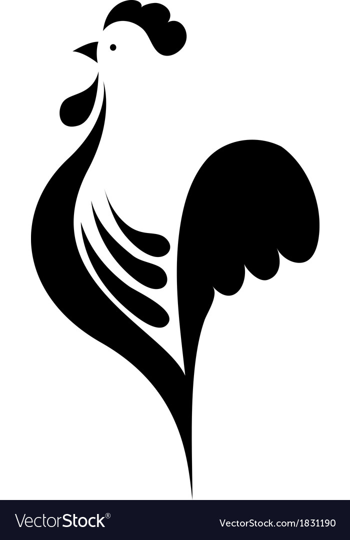 Stylized cock vector   Price: 1 Credit (USD $1)