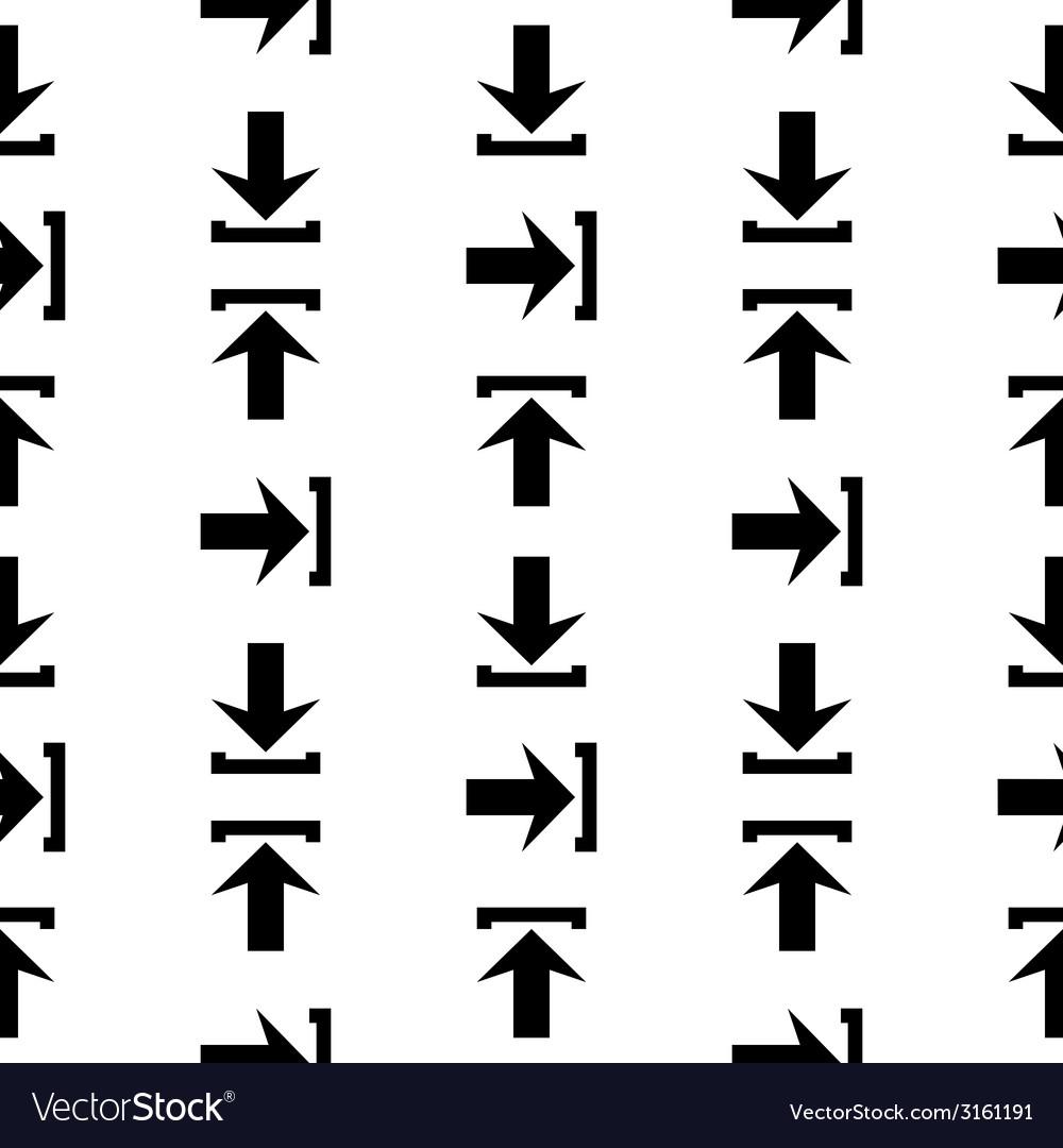 Arrow icon seamless pattern vector | Price: 1 Credit (USD $1)