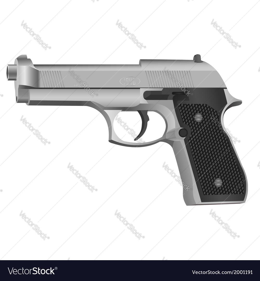 Black gun vector | Price: 1 Credit (USD $1)