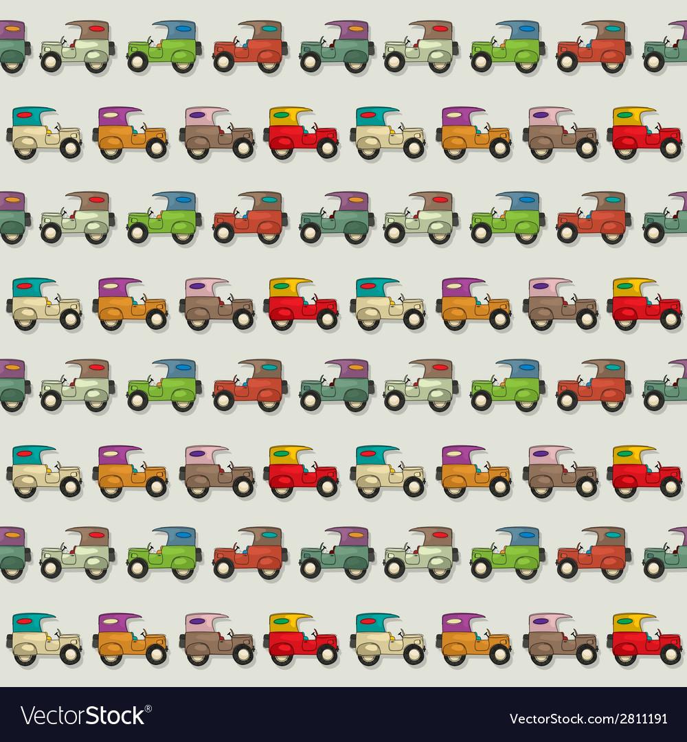 Car seamless wallpaper vector   Price: 1 Credit (USD $1)