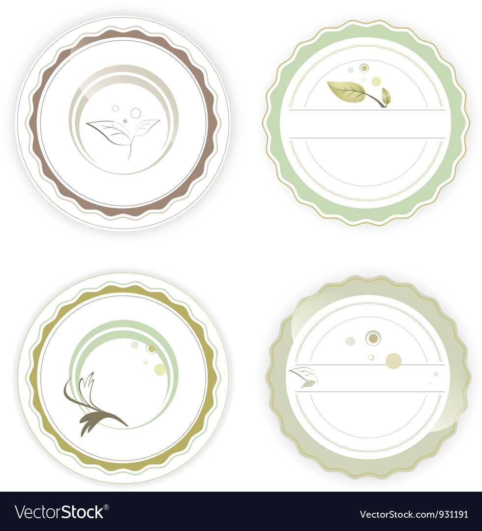 Designs natural care tags vector | Price: 1 Credit (USD $1)