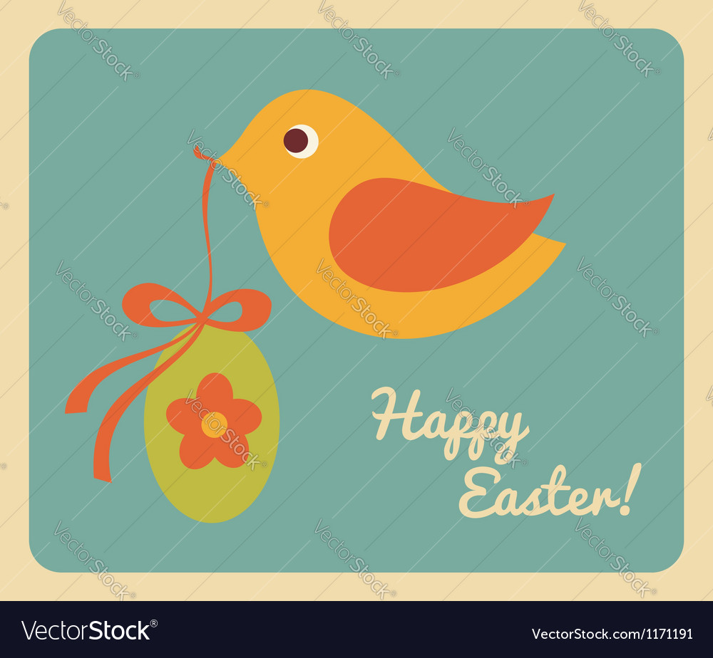 Easter greeting card design vector | Price: 1 Credit (USD $1)