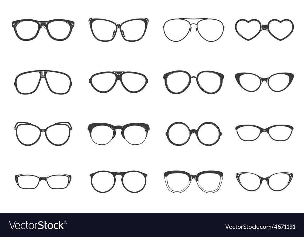 Eyeglasses set flat vector | Price: 1 Credit (USD $1)