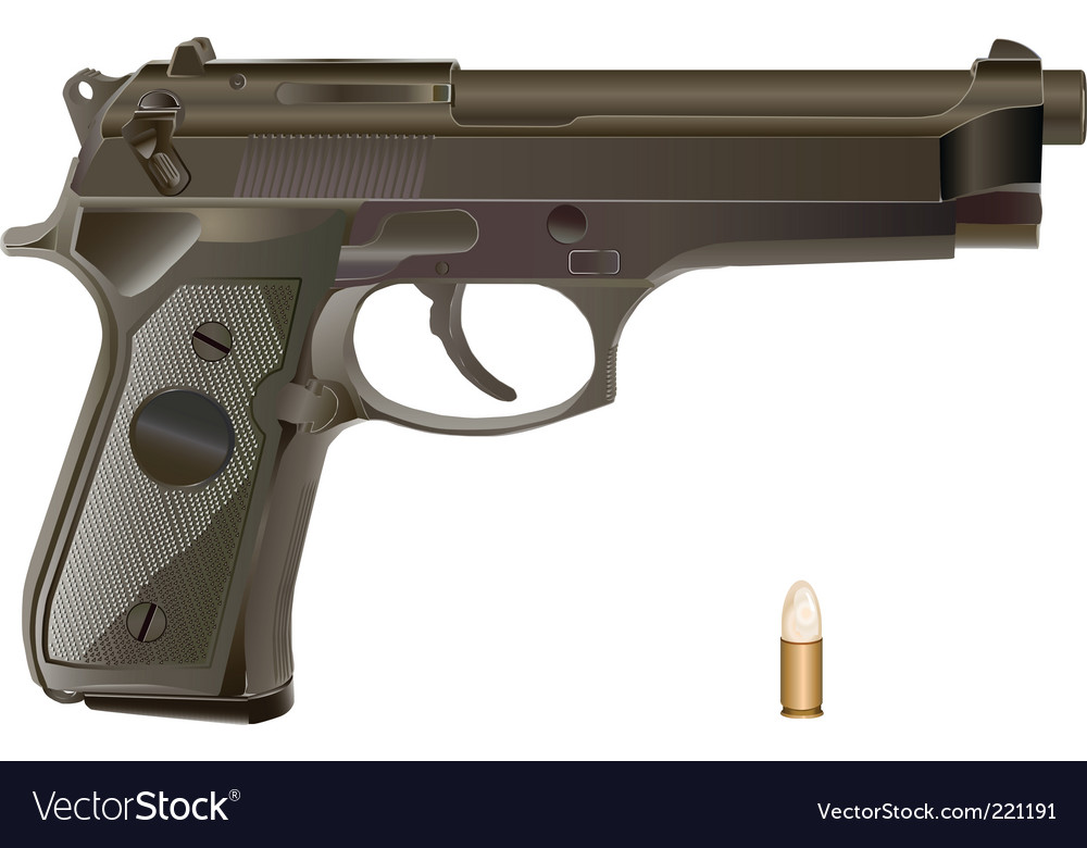 Handgun vector | Price: 3 Credit (USD $3)