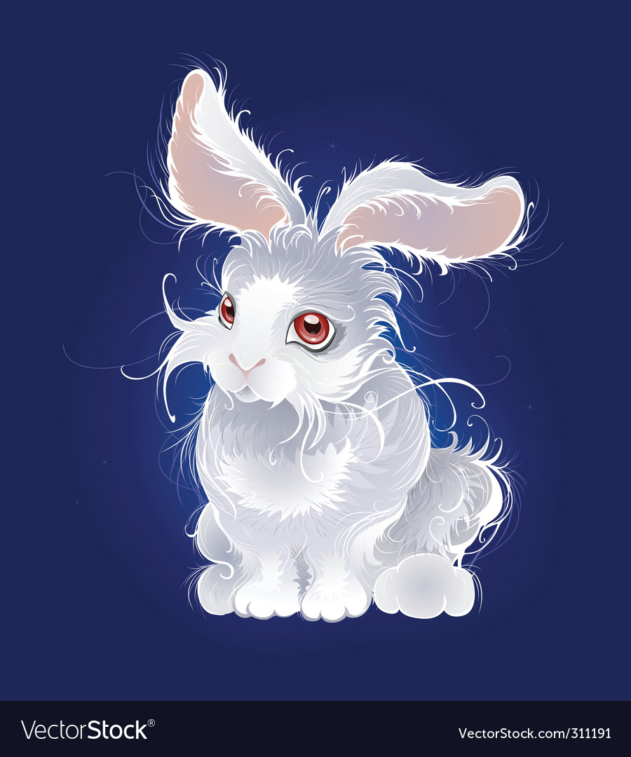 Magic white rabbit vector | Price: 3 Credit (USD $3)