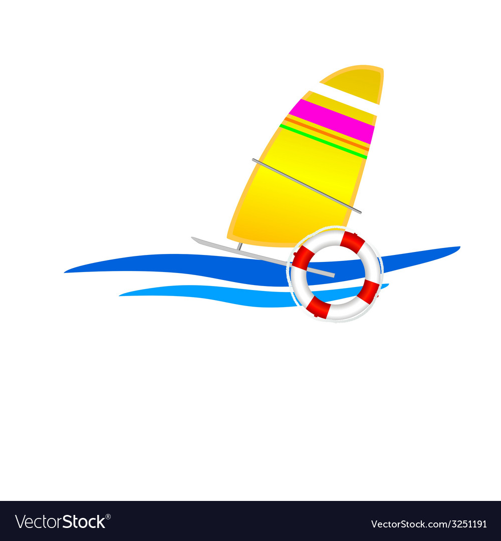 Sailboat icon vector | Price: 1 Credit (USD $1)
