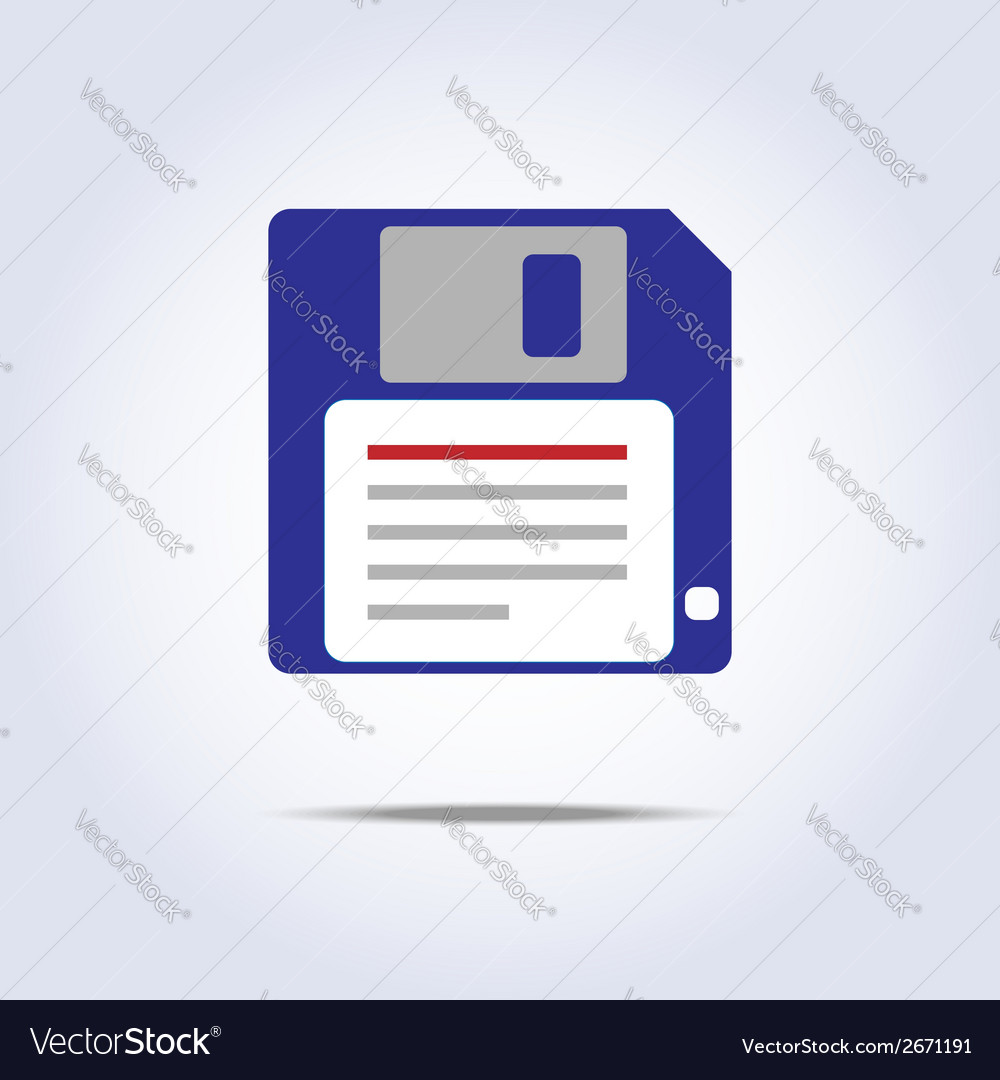 Save diskette icon vector | Price: 1 Credit (USD $1)