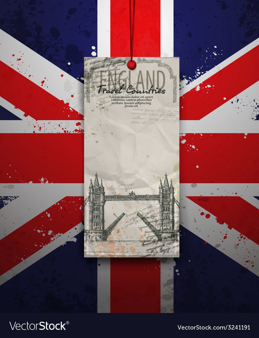 Tower bridge england london vector | Price: 1 Credit (USD $1)