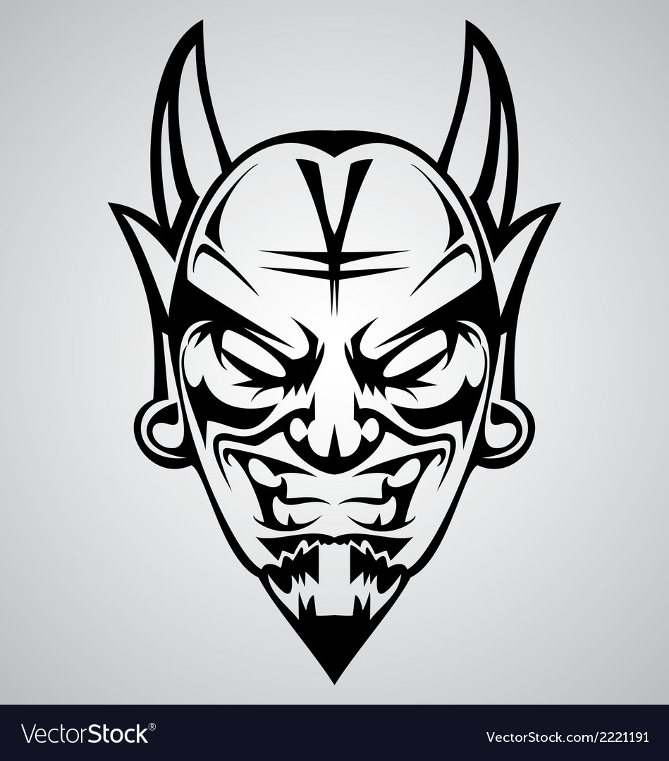 Tribal devil head vector | Price: 1 Credit (USD $1)