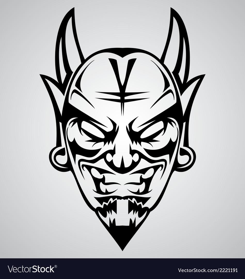 Tribal devil head vector | Price: 1 Credit (USD $1)