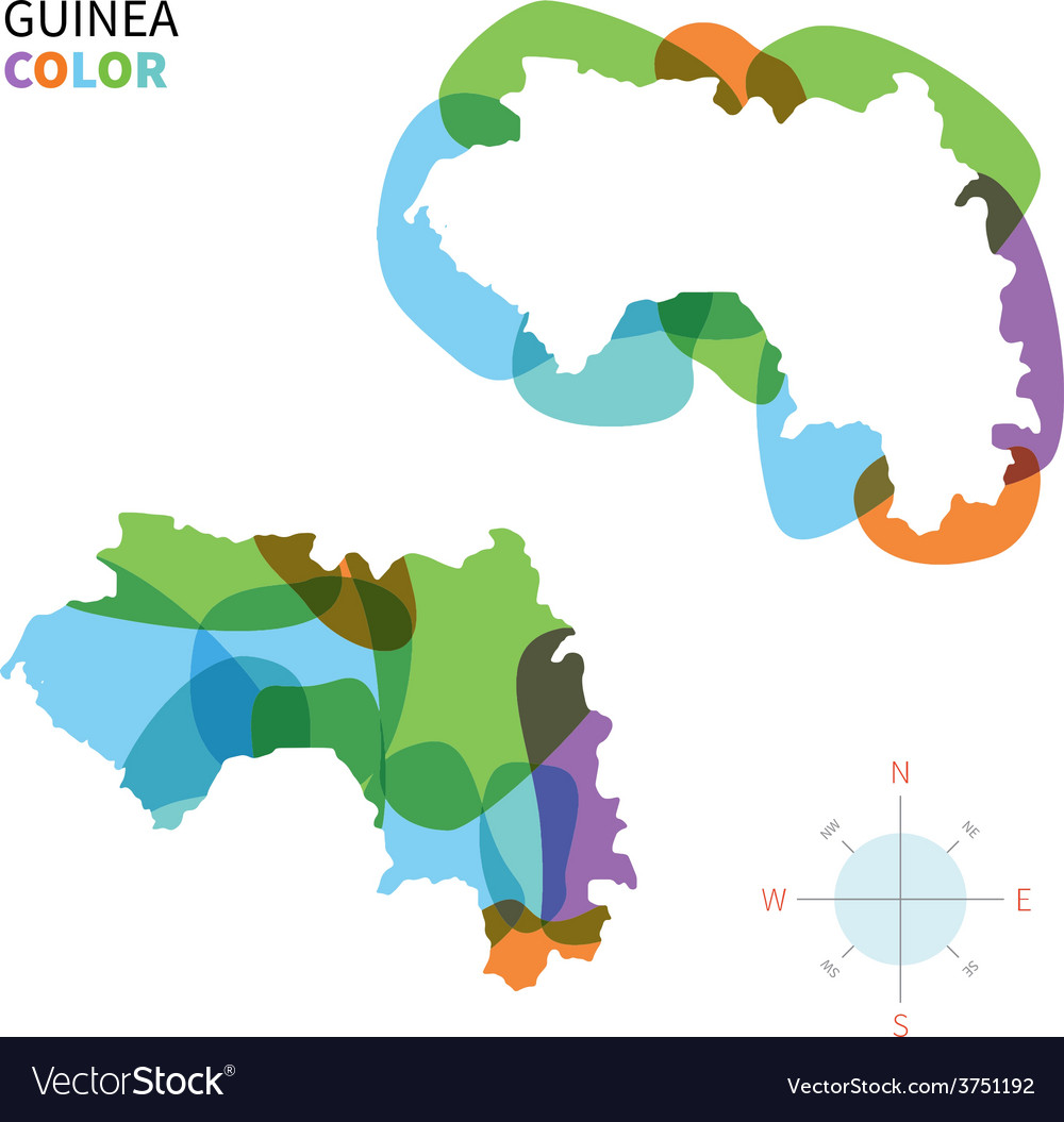Abstract color map of guinea vector | Price: 1 Credit (USD $1)